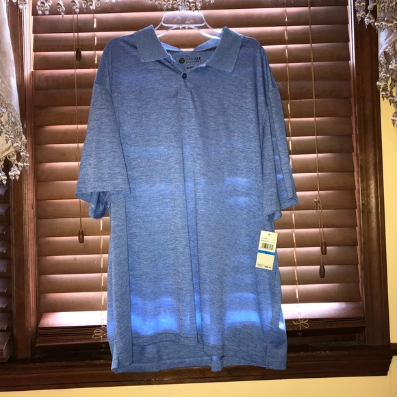 Haggar Other - NWT $48 Hagar Clothing Blue Collared Polo Top XL